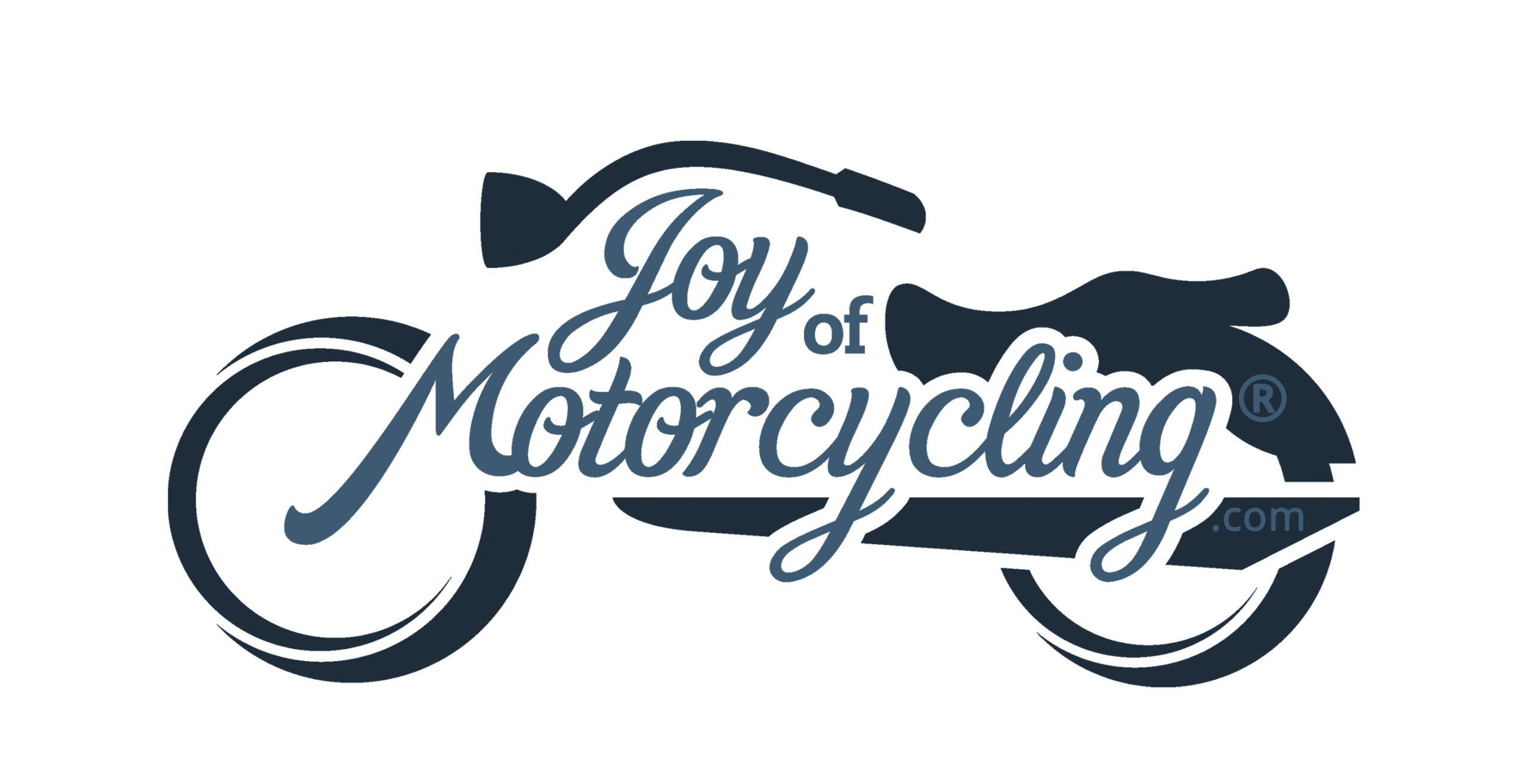 Joy of Motorcycling Logo L01 - Blue-on-Blue - Solid